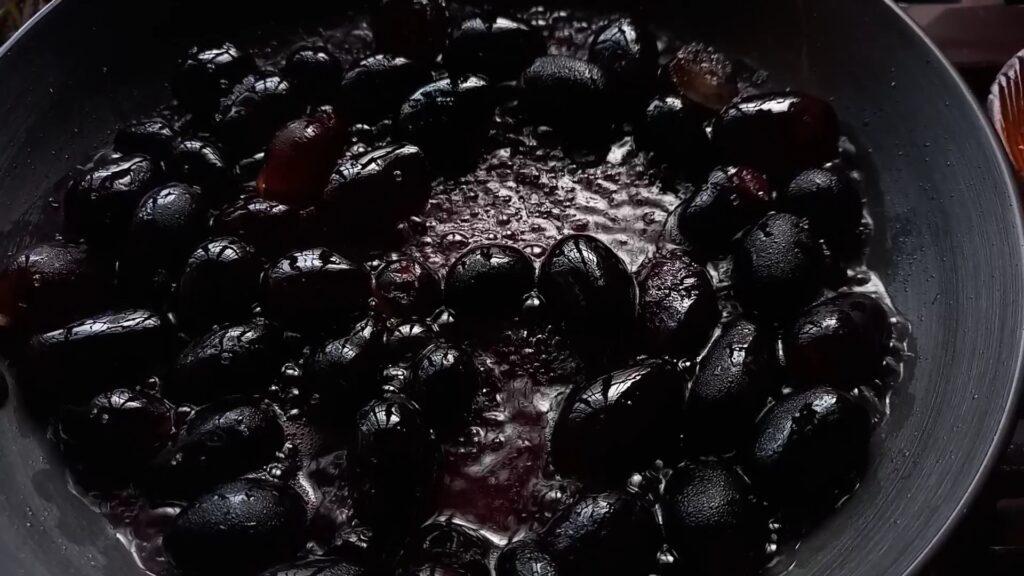black grape compote