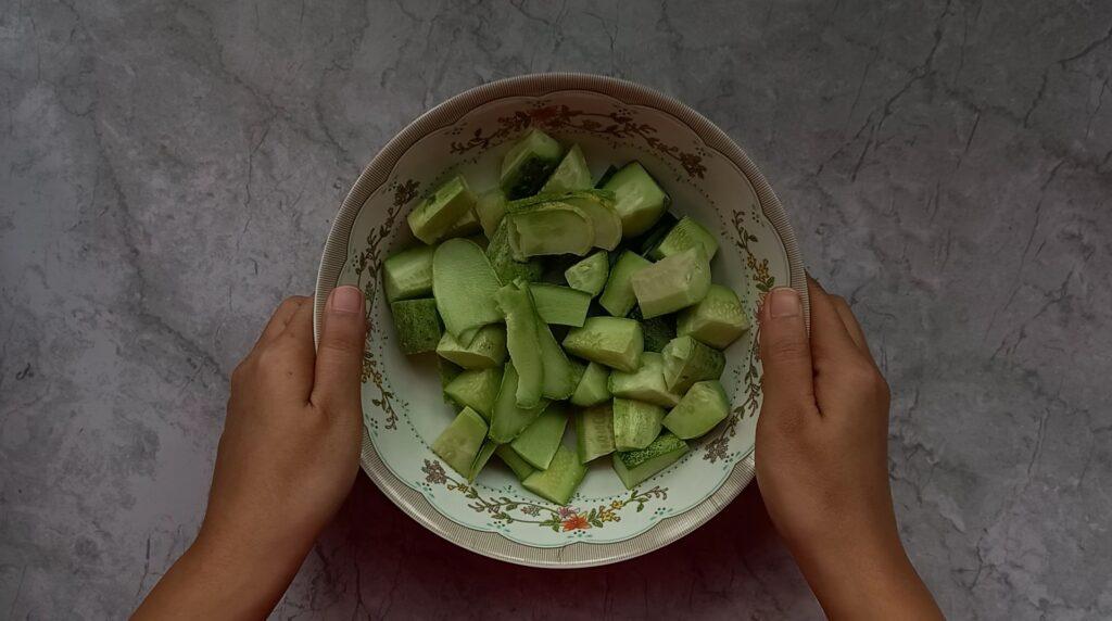 cucumber pieces
